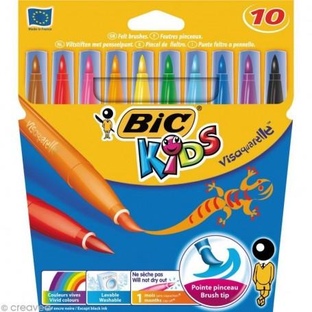 Etui de 12 feutres Bic Kids Visa tracé 0.9mm